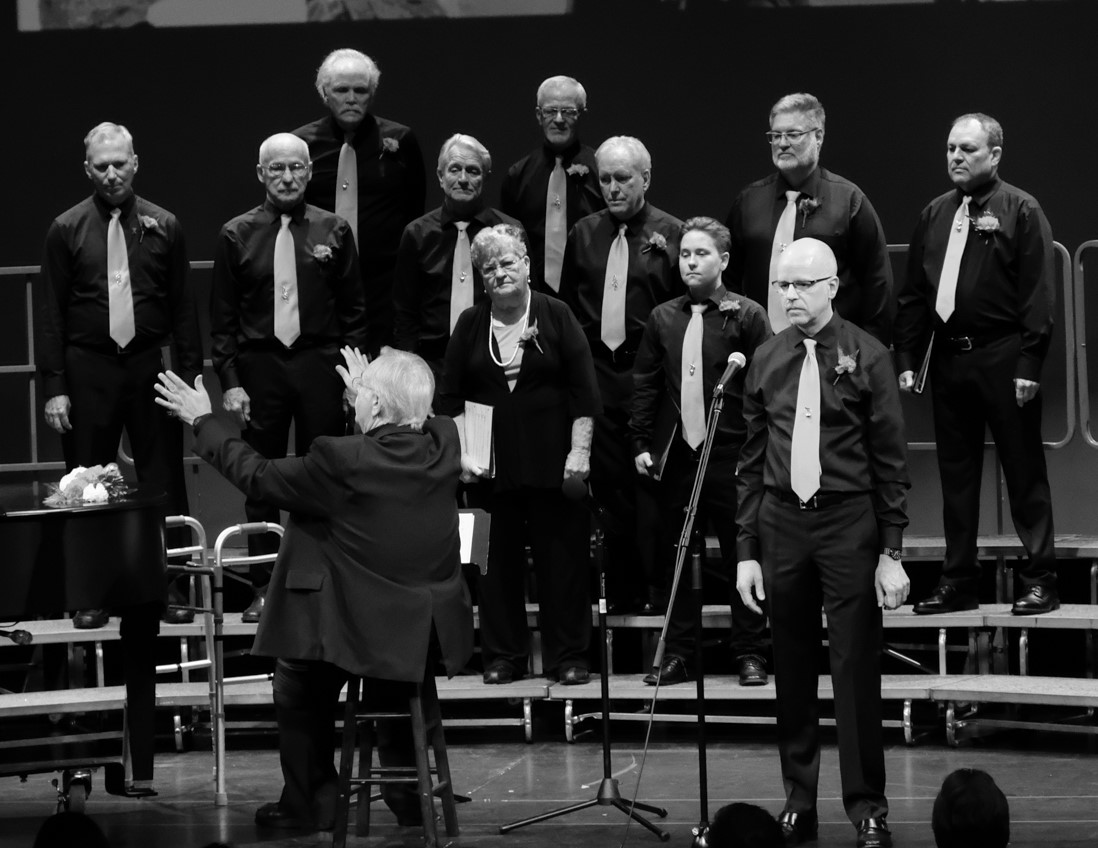 Bassos and Tenors performed Bring Him Home in All About Love, Spring 2018
